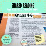 Shared Reading on TERRY FOX Bundle 4 Ontario Curriculum