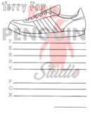 Terry Fox Shoe - Terry Fox Template for Acrostic - Athleti