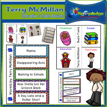 Terry McMillan Interactive Foldable Booklets - Black History Month
