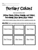 Tertiary Color Worksheet