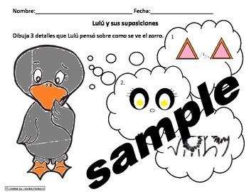 Tesoros Kinder Gansa Tonta Activities (6pgs) Cscope Common Core