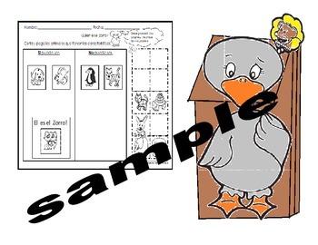 Tesoros Kinder Gansa Tonta Activities (6pgs)