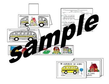 Tesoros Kínder  Las Paradas del Autobus activities