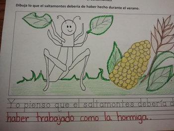 Tesoros La Hormiga y el Saltamontes Activity Worksheet SLA