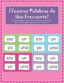 Tesoros Palabras de Uso Frecuente - Kindergarten High Freq