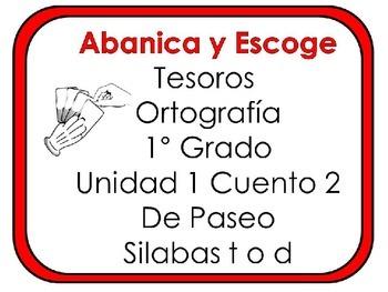 Tesoros: Unidad 1 Cuento2 Silabas t o d