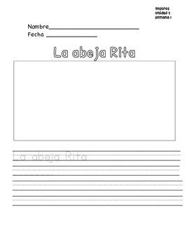 Tesoros Unidad 3 paginas de escritura