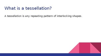 Tesselations Powerpoint with Activites