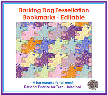 Bookmark: Barking Dog Tessellation Freebie