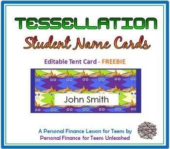Student Name Cards - Editable Freebie