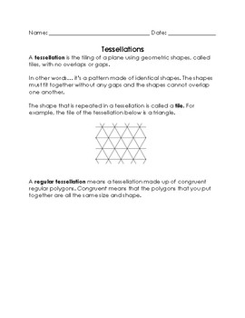 Tessellation Packet and Activity