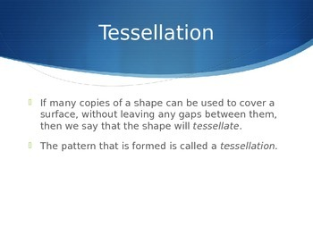 Tessellation Powerpoint with 2 Videos embedded