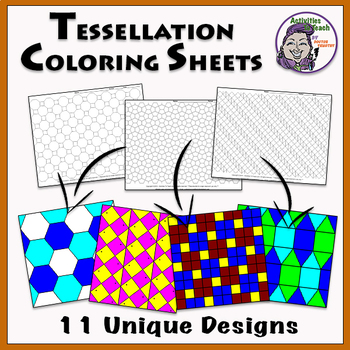 graphic relating to Tessellation Worksheets Printable referred to as Tessellation Printable Worksheets