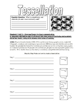 tessellation worksheet by smartistic teachers pay teachers. Black Bedroom Furniture Sets. Home Design Ideas