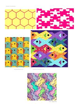 Tessellations Activity, Art Sub Plan, Tiling
