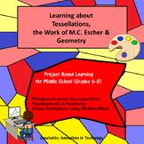 Tessellations, MC Escher & Geometry:  WebQuest, Art & Technology Activity