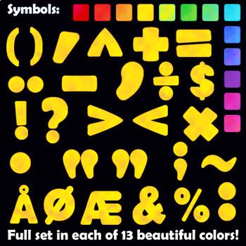 Alphabet Clip Art Letters: Color POP! | Bulletin Board Letters