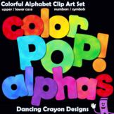 Alphabet Clip Art | Color POP Bulletin Board Letter Set