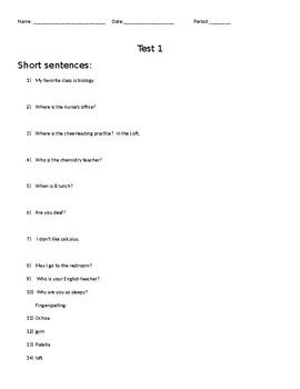 Test 1 Key
