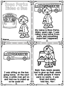 Rosa Parks Black History Month Activities