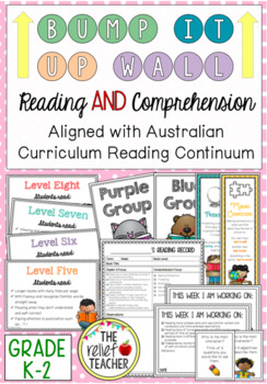 Bump it Up Wall *Reading AND Comprehension Bundle* Australian Curriculum (K-2)