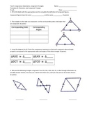 Test 4: Triangle Congruence Statements, Postulates, Theorems, and Proof
