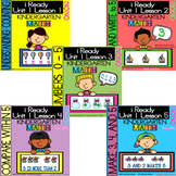 IREADY Math Complete Unit 1 Bundle Kindergarten Counting, Writing and Comparing