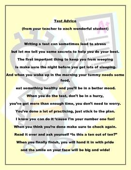 Test Advice Poem