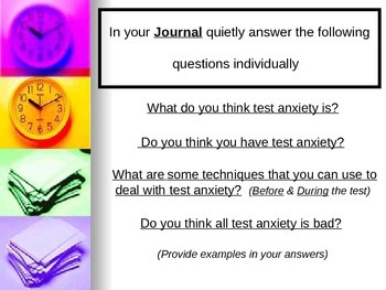 Test Anxiety Lecture and Activity