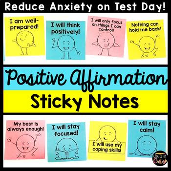 Positive Motivational Sticky Notes