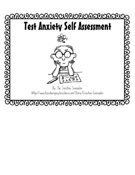 School Counselor-Test Anxiety Self-Assessment & Coping Ski