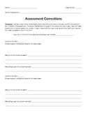 Test & Assessment Corrections