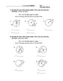 Geometry Test (2 Versions) - Circles (Angle Meas & Seg Length, Circles in Plane)
