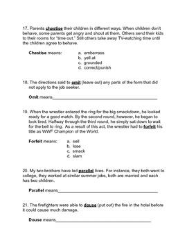 Test: Context Clues