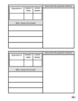 Test Correction Form