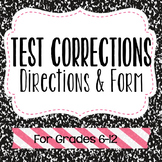 Test Correction Form