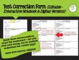 Test Correction Form (editable) - Interactive Notebook Version