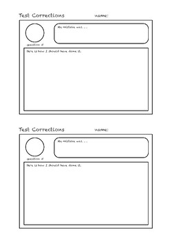 Test Correction Forms