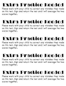 Test Correction Instructions