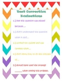 Test Correction Sentence Stems Poster