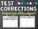 Test Correction Sheet
