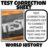 Test Correction Sheet 2 for 1