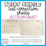 Test Correction Sheets: Help Students Correct and Analyze