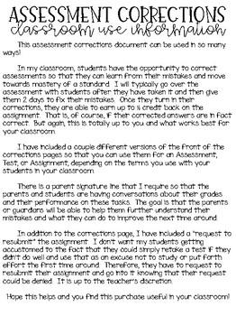Test Corrections!
