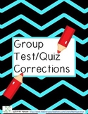 Test Corrections Activity