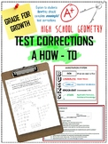 Test Corrections Directions