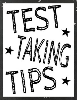 Test Corrections Form (Test-Taking Tips Posters Included!)