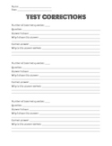 Test Corrections Format