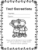 Test Corrections Printable