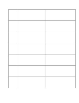 Test Corrections Template (Blank) with visuals. Great for ELLs / ENL